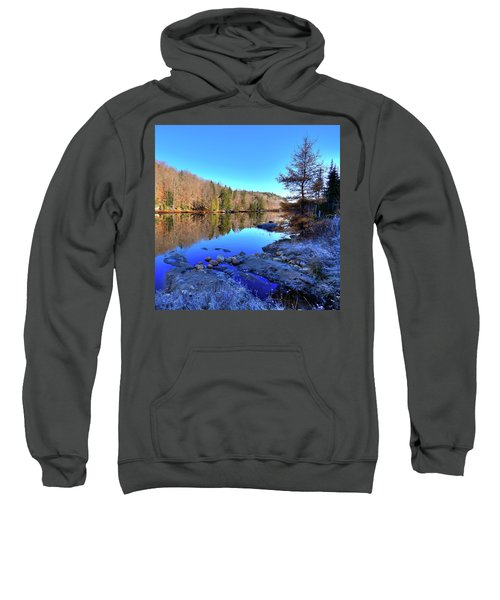 Sweatshirt featuring the photograph A November Morning On The Pond by David Patterson