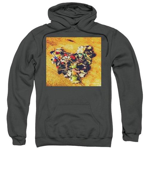 A Patchwork Heart Sweatshirt