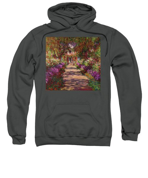 A Pathway In Monets Garden Giverny Sweatshirt