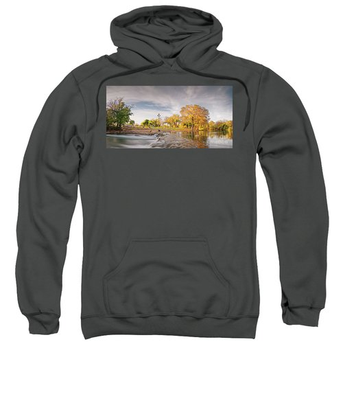 A Peaceful Fall Afternoon At Rio Vista Dam Park - San Marcos Hays County Texas Hill Country Sweatshirt