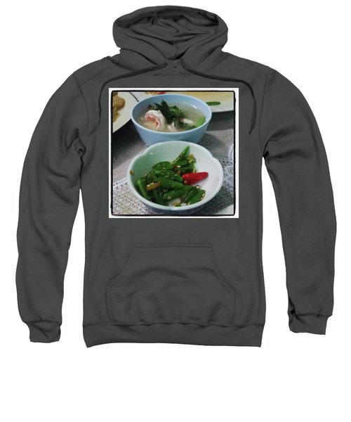Sweatshirt featuring the photograph A Side Of Tom Yum Goon With Your by Mr Photojimsf