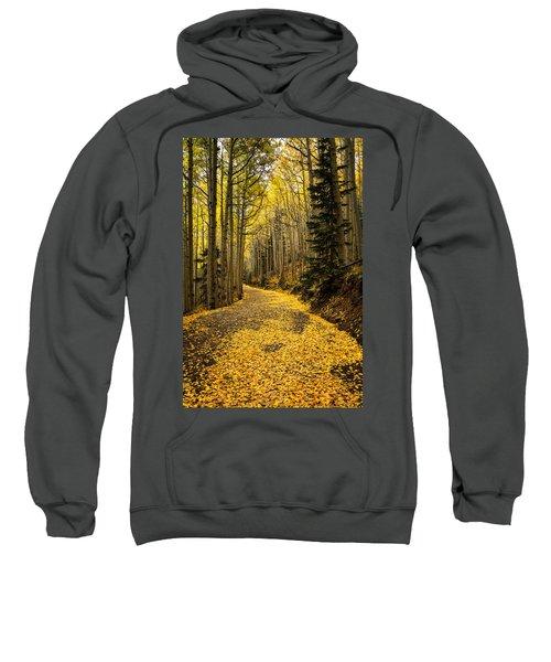 A Stroll Among The Golden Aspens  Sweatshirt