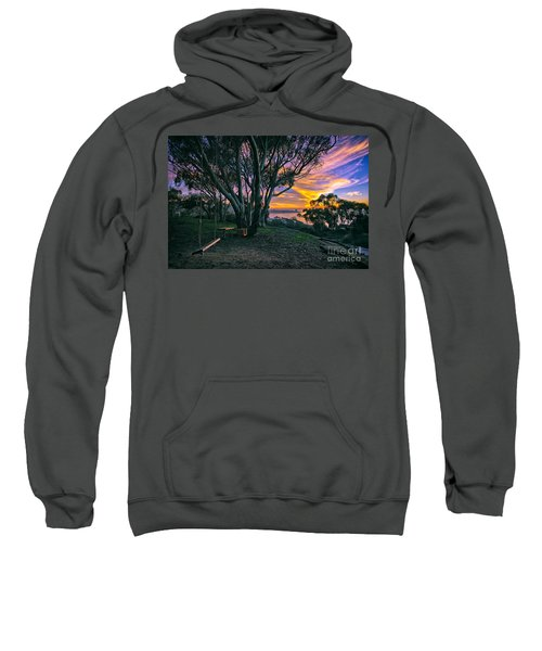 A Swinging Sunset From The Secret Swings Of La Jolla Sweatshirt