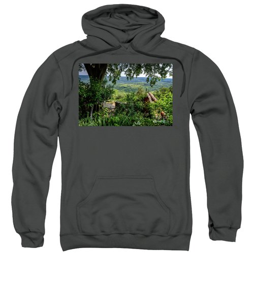 A View From Groznjan Of The Istrian Hill Town Countryside, Istria, Croatia Sweatshirt