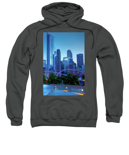 A View Of Millenium Park From The Amoco Bridge In Chicago At Dus Sweatshirt