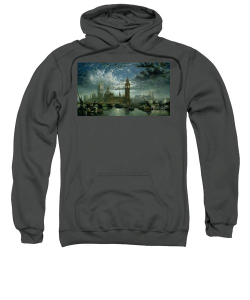 A View Of Westminster Abbey And The Houses Of Parliament Sweatshirt by John MacVicar Anderson