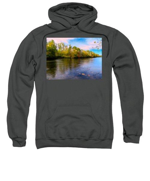 A Wide Scenic View Of Shetucket River. Sweatshirt