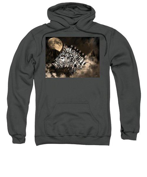 A Wild Steampunk Zebra Sweatshirt