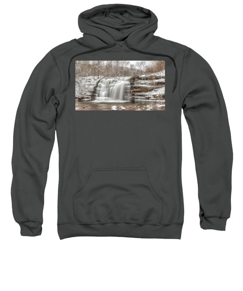 A Winter Waterfall - Color Sweatshirt
