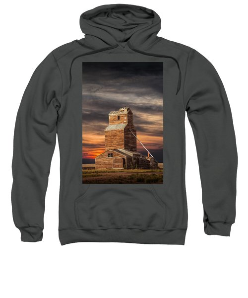 Abandoned Grain Elevator On The Prairie Sweatshirt