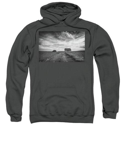 Abandoned Iceland Bw  Sweatshirt