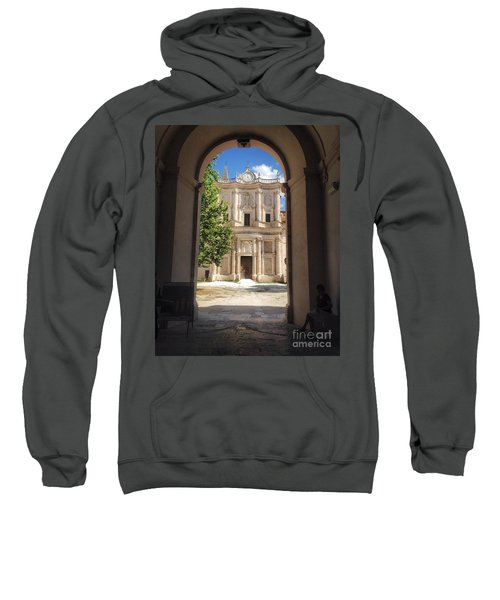 Abbey Of The Holy Spirit At Morrone In Sulmona, Italy Sweatshirt