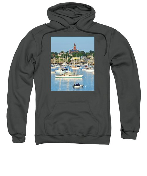 Abbot Hall Over Marblehead Harbor From Chandler Hovey Park Sweatshirt