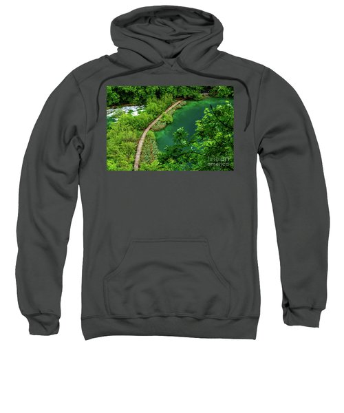 Above The Paths At Plitvice Lakes National Park, Croatia Sweatshirt