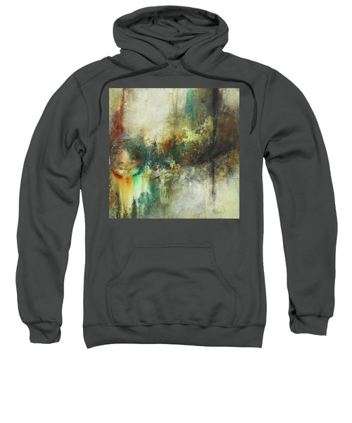 Abstract Art With Blue Green And Warm Tones Sweatshirt