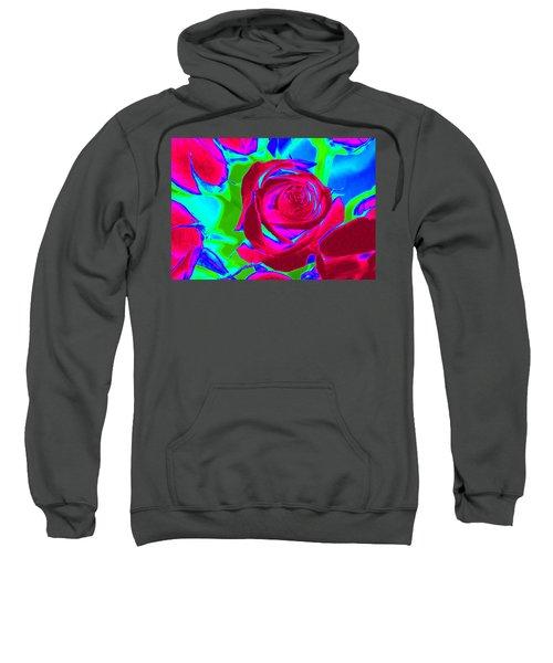 Burgundy Rose Abstract Sweatshirt
