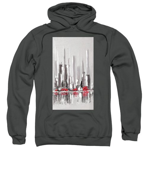 Abstract Cityscape Painting - 1 Sweatshirt