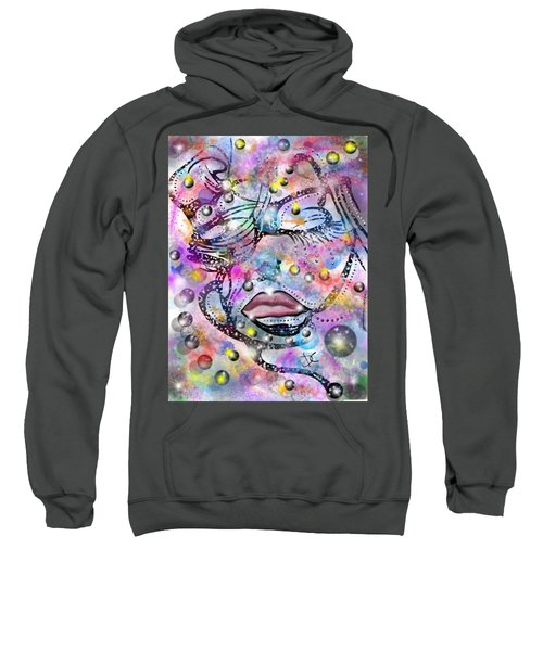 Abstract Color Human Face Sweatshirt