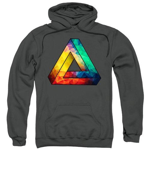Abstract Color Wave Flash Sweatshirt