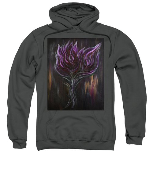 Abstract Dark Rose Sweatshirt