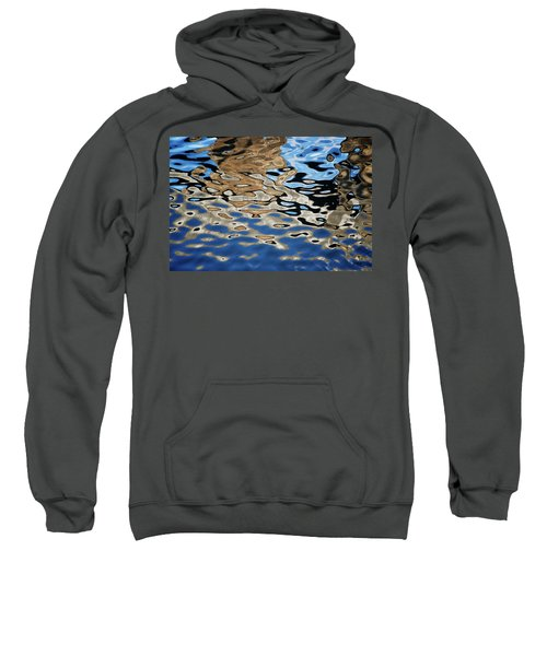 Abstract Dock Reflections I Color Sweatshirt