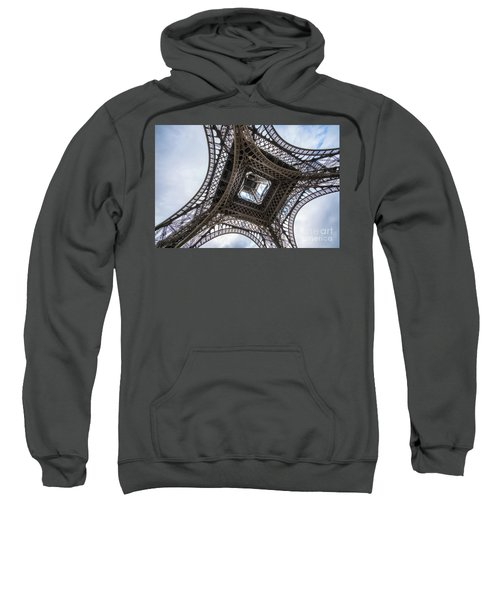 Abstract Eiffel Tower Looking Up 2 Sweatshirt
