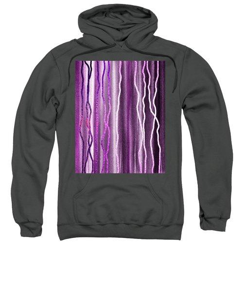 Abstract Lines On Purple Sweatshirt