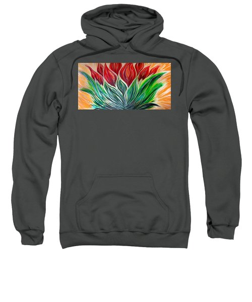 Abstract Lotus Sweatshirt