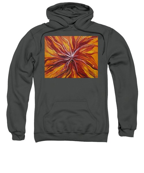 Abstract Orange Flower Sweatshirt