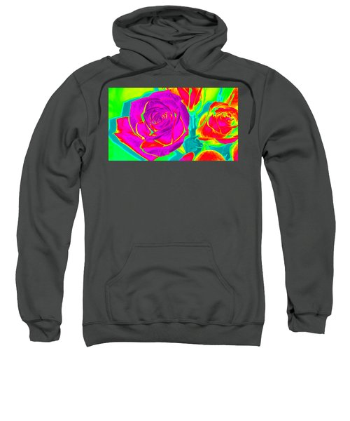 Blooming Roses Abstract Sweatshirt