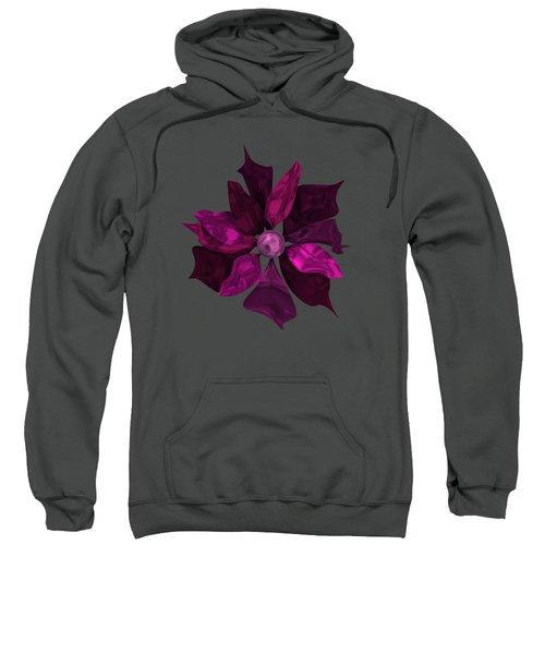 Abstrct Violet Flower Sweatshirt