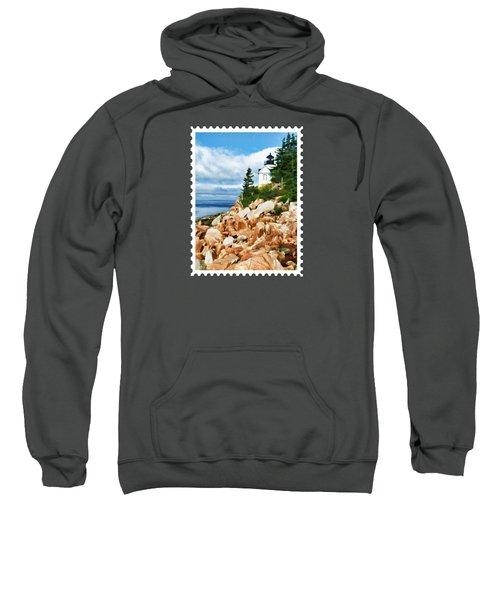 Acadia Bass Harbor Head Lighthouse On Mt Desert Island Maine Sweatshirt