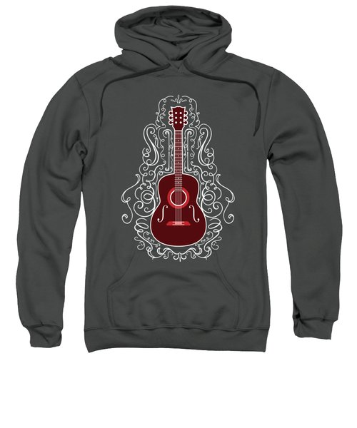 Acoustic Guitar With Scroll Design Sweatshirt