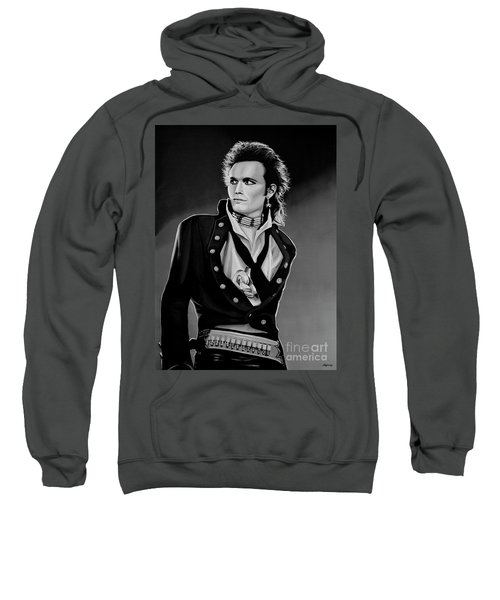 Adam Ant Painting Sweatshirt by Paul Meijering