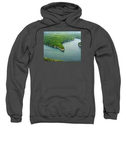 Aerial Image Of  Long Point Cliff Sweatshirt