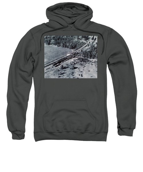 Aerial Train Wreck Sweatshirt