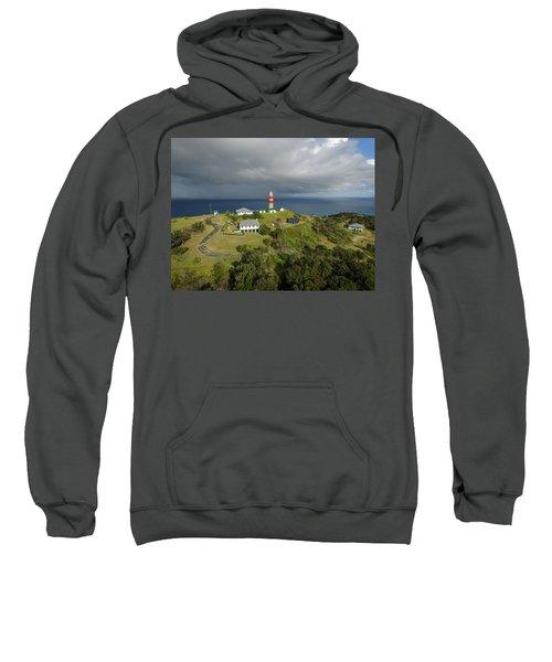 Aerial View Of Cape Moreton Lighthouse Precinct Sweatshirt