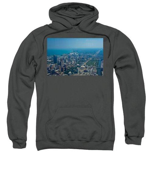 Aerial View Of Chicago, Illinois Sweatshirt