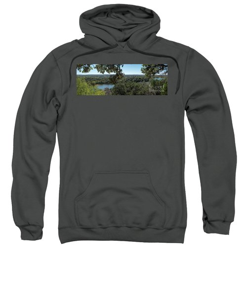 Aerial View Of Large Forest And Lake Sweatshirt