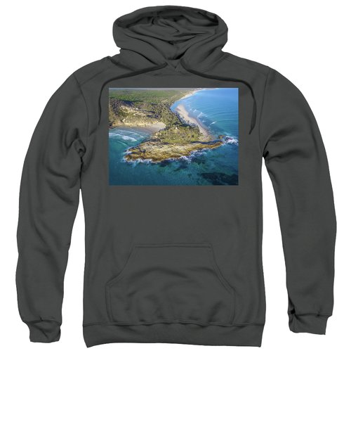 Aerial View Of North Point, Moreton Island Sweatshirt