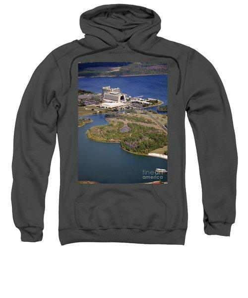Aeriel View Of Disneys Contemporary Resort Sweatshirt