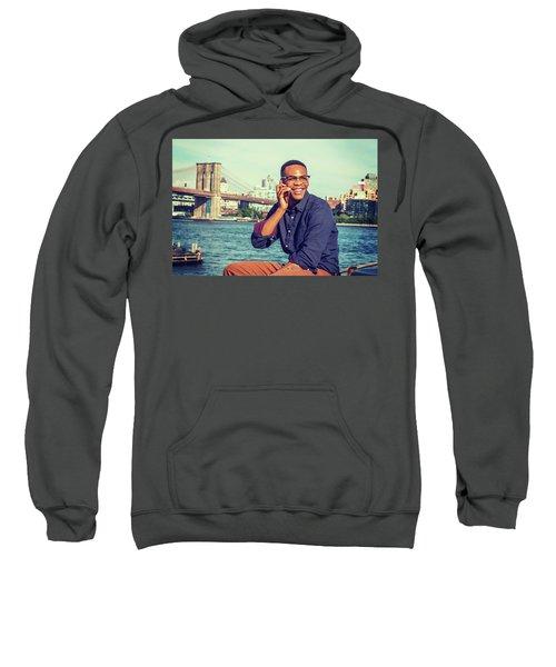 African American Man Traveling In New York Sweatshirt