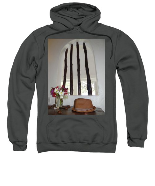 African Table With Flowers And Hat Sweatshirt