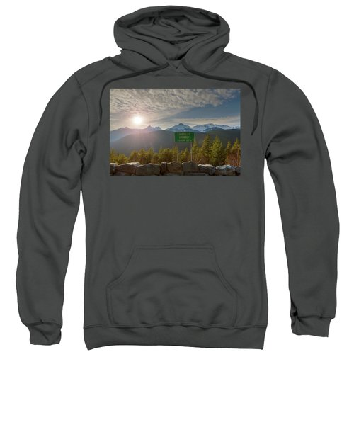 Afternoon Sun Over Tantalus Range From Lookout Sweatshirt