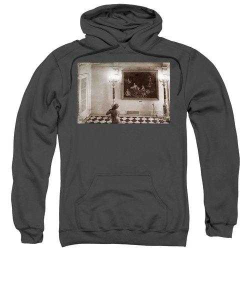 Aged Mixed Media Classic Painting Versailles Hallway  Sweatshirt