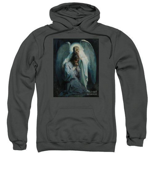 Sweatshirt featuring the painting Agony In The Garden  by Frans Schwartz