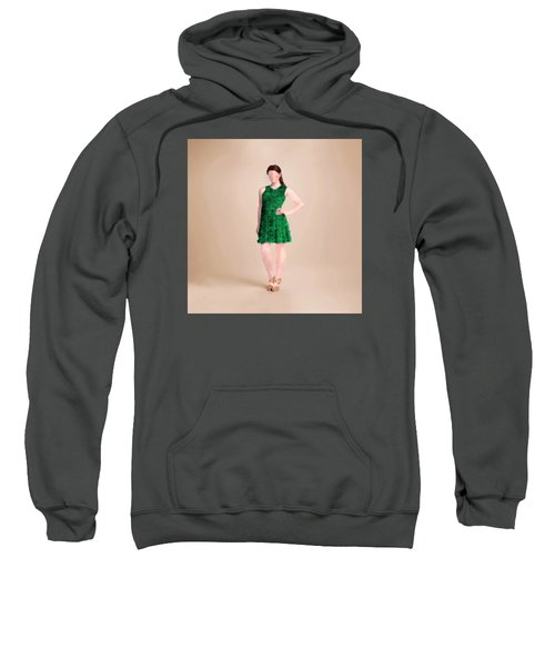 Sweatshirt featuring the digital art Ainsley by Nancy Levan