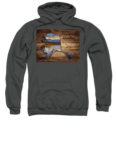 Alaska Map Collage Sweatshirt