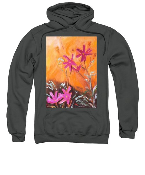Sweatshirt featuring the painting Alba Daisies by Winsome Gunning