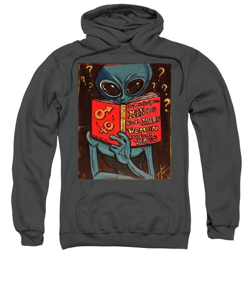 Alien Looking For Answers About Love Sweatshirt